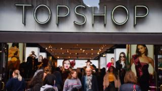 Outside Topshop