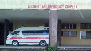 Ambulance dey wait for hospital emergency ward