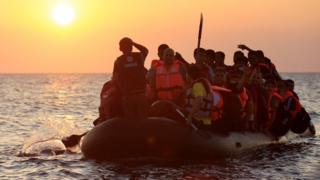 Migrants trying to reach Kos, Greece
