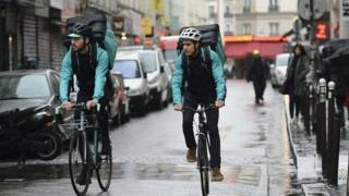 Deliveroo bikers