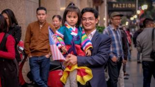 Vietnamitas, de cara a la reunión entre Kim y Trump en Hanoi.