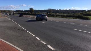 The A40 crash site