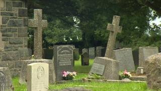 Graves at Coetmor Church