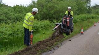 Digging work at Skerray