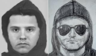 E-fit and drawing of rape suspect