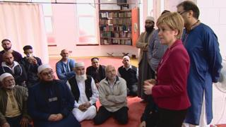 Nicola Sturgeon at Dundee Central Mosque