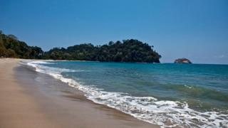The beach at Manuel Antonio National Park in Quepos, Costa Rica