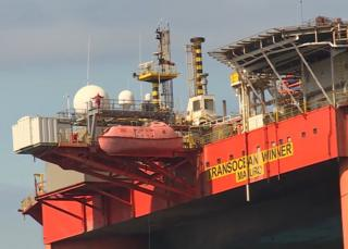 Workers on Transocean Winner