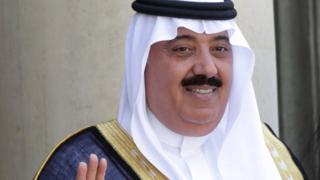 Saudi Arabian Prince Miteb bin Abdullah at the Elysee Palace in Paris, 18 June 2014