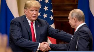 Presidents Trump and Putin in Helsinki, 16 June
