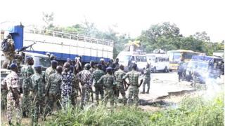 Les ex-rebelles démobilisés bloquaient depuis lundi soir l'entrée de la ville de Bouaké.