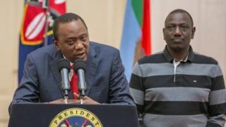 Bw Kenyatta na naibu wake William Ruto