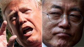 트럼프(왼쪽)와 문재인