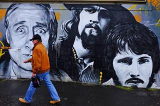 Mural at Clutha Bar in Glasgow