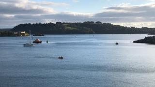 Search efforts off Plymouth Hoe