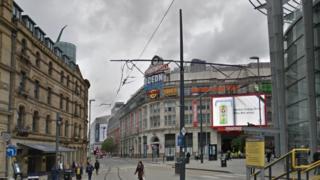Exchange Square, Manchester city centre