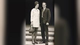 Couple in old photo