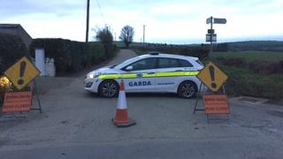 Garda at scene