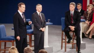 Джордж Буш-старший, Перо та Клінтон