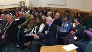 People in attendance at the public inquiry