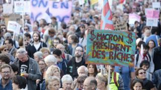 Protesto na França