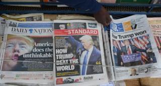 Baadhi ya magazeti ya kibinafsi nchini Kenya