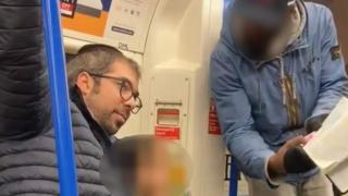 A family being harassed and targeted with anti-Semitic abuse by a man on a Northern Line train on Friday afternoon.