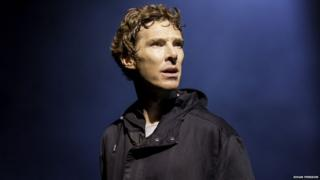 Benedict Cumberbatch (Hamlet) in Hamlet at the Barbican Theatre
