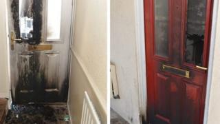 Fire damaged doors