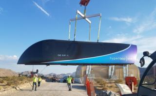 Pod o vagón. Foto: Virgin Hyperloop One.