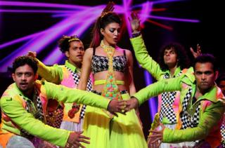 Bollywood actress Jacqueline Fernandez performs live in Sydney, Australia.