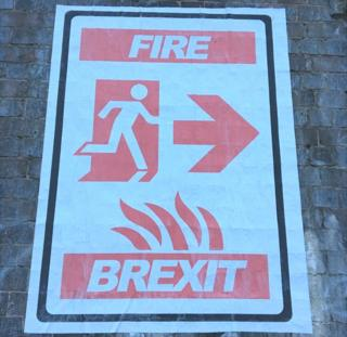 Foka Wolf Brexit poster in Birmingham city centre