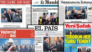 Nato summit spurs international press anger