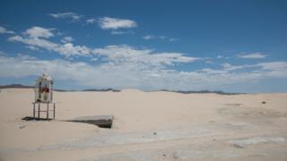 A view of the expanse of the Samalayuca sand dunes