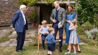 environment Sir David Attenborough meets the Royal Family