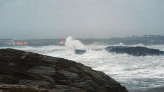 waves at Trearddur Bay