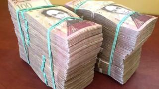 اسکناس های۱۰۰ بولیواری