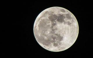 Sunday night's super moon (seen from Oxfordshire)