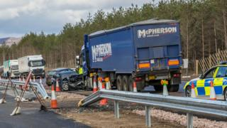 A9 crash south of Aviemore