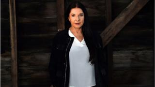 Marina Abramovic at a press call in Sydney, Australia