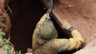 illegal miner