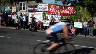 Ironman Wales supporters