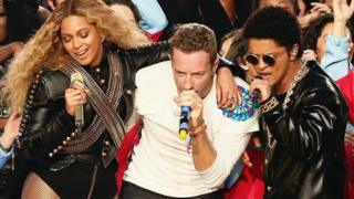 Beyonce, Chris Martin and Bruno Mars