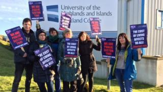 Lecturers on strike in Shetland