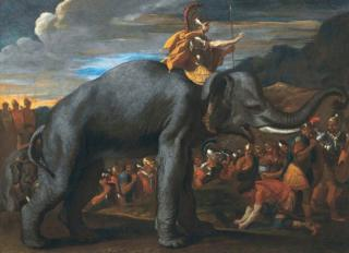 Hannibal crossing the Alps, by Nicolas Poussin