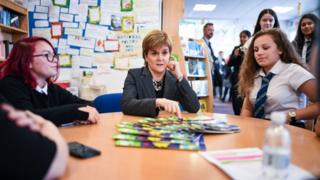 Nicola Sturgeon at Renfrew High School