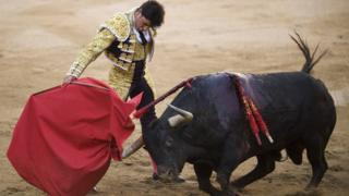 """Bullfighter Francisco Rivera Ordonez """"Paquirri"""" of Spain performs during the first bullfight of the 2011 season."""