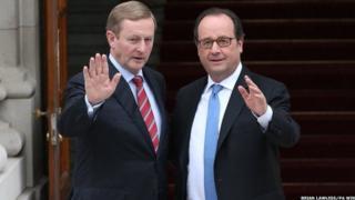 Enda Kenny and Francois Hollande