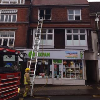 Fire in St Albans