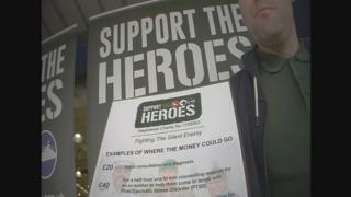 A Support the Heroes fundraiser told the BBC he was an unpaid volunteer